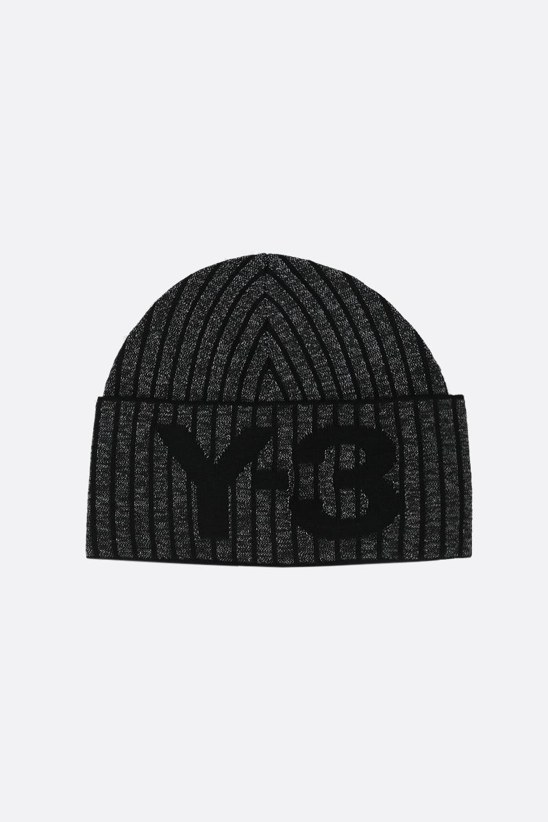 Y-3: Y-3 CH1 knit beanie Color Black_1