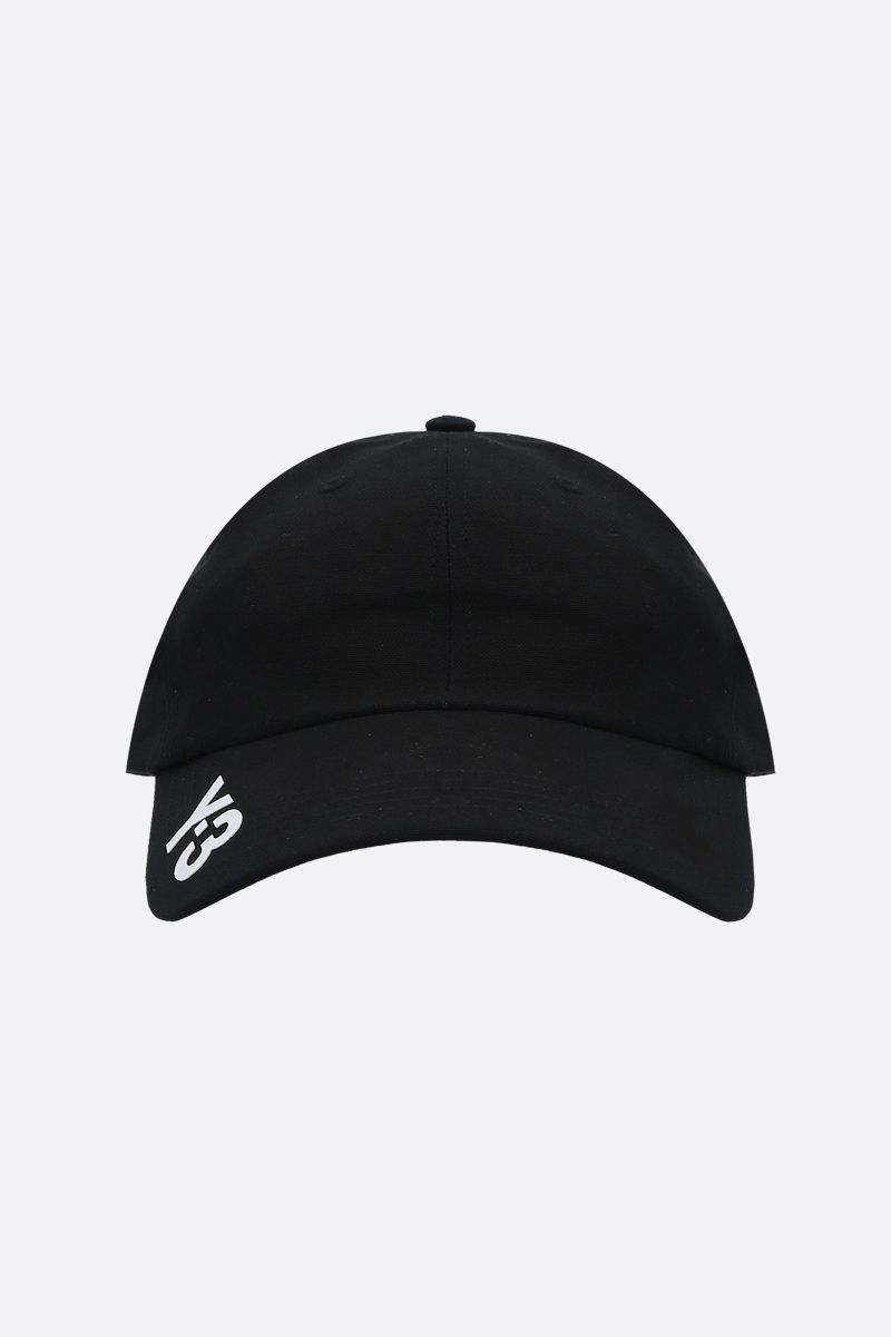 Y-3: Y-3 CH1 gabardine baseball cap Color Black_1