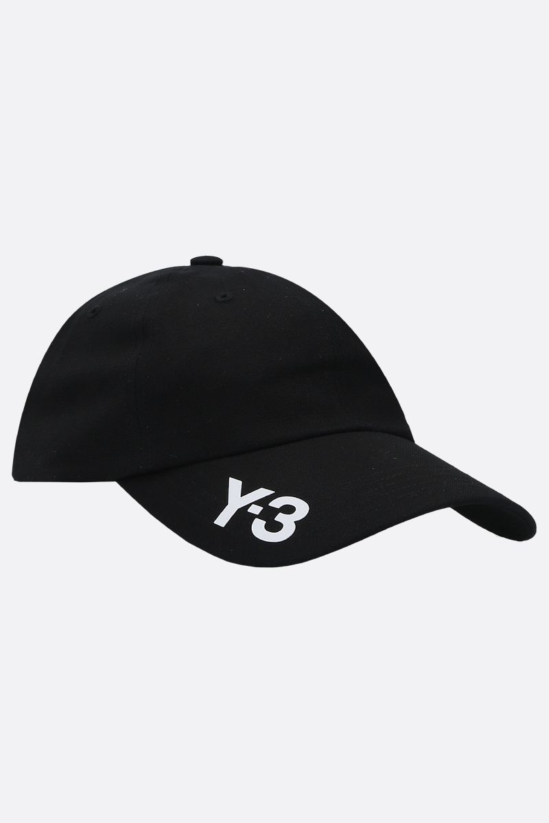 Y-3: Y-3 CH1 gabardine baseball cap Color Black_2