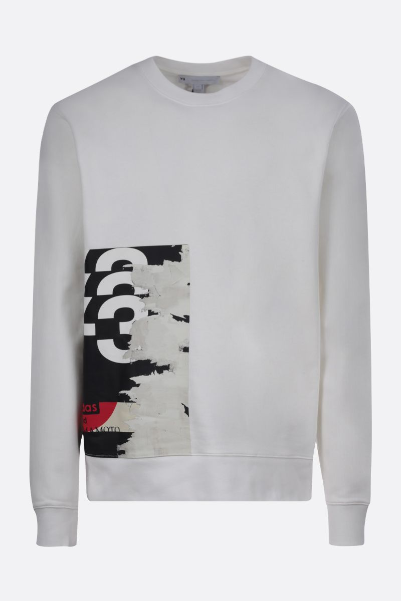 Y-3: Y-3 CH1 Graphic cotton sweatshirt Color White_1