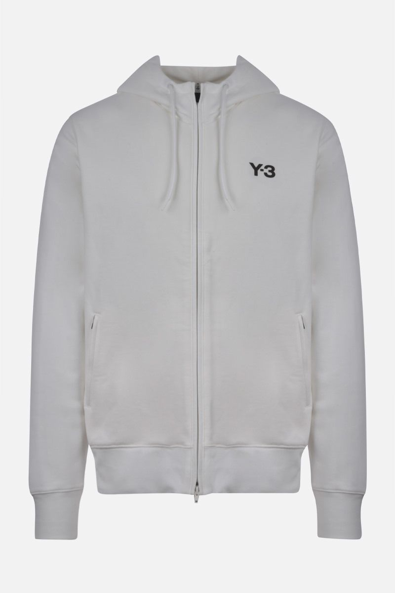 Y-3: Y-3 CH1 Graphic cotton hoodie Color White_1