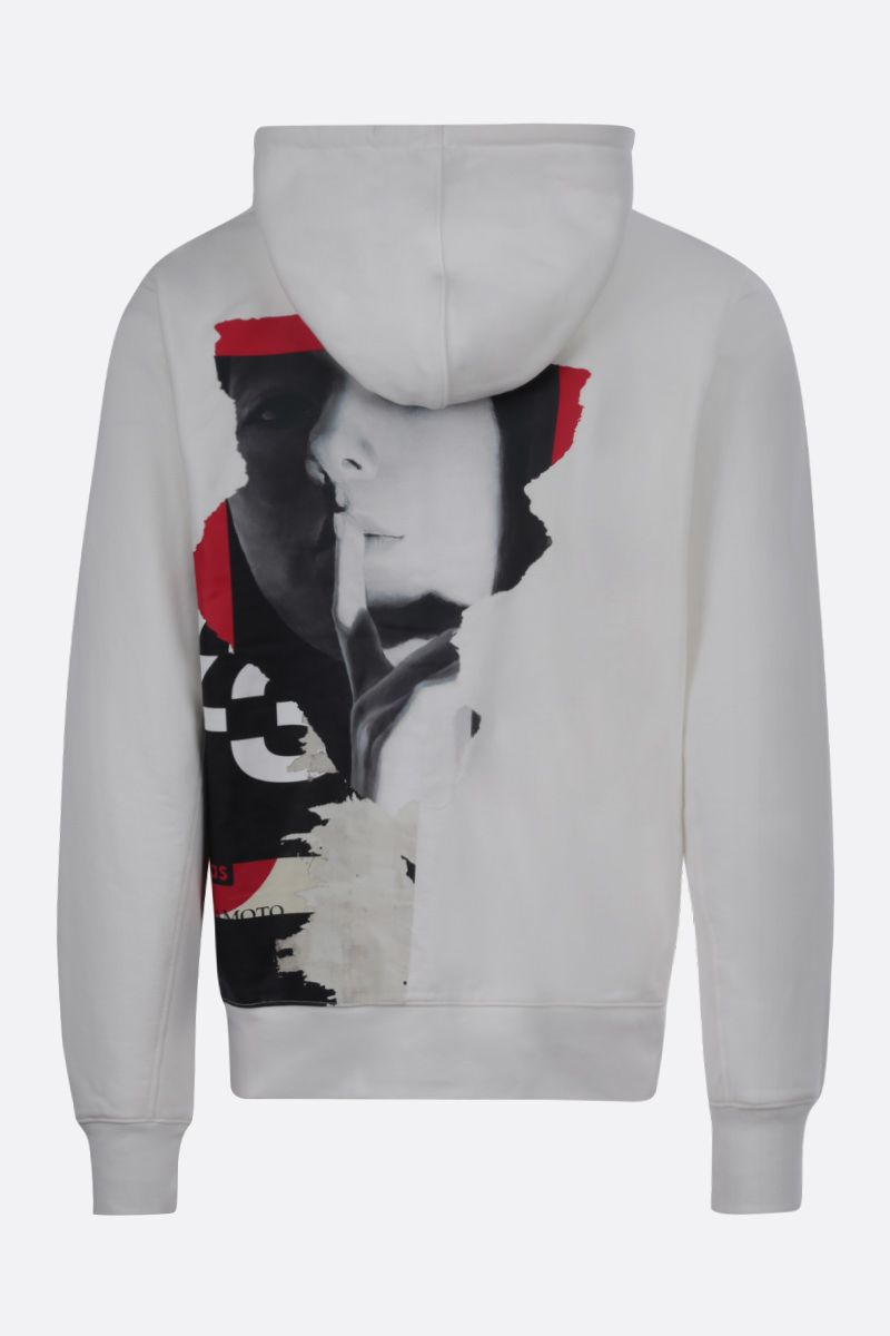 Y-3: Y-3 CH1 Graphic cotton hoodie Color White_2