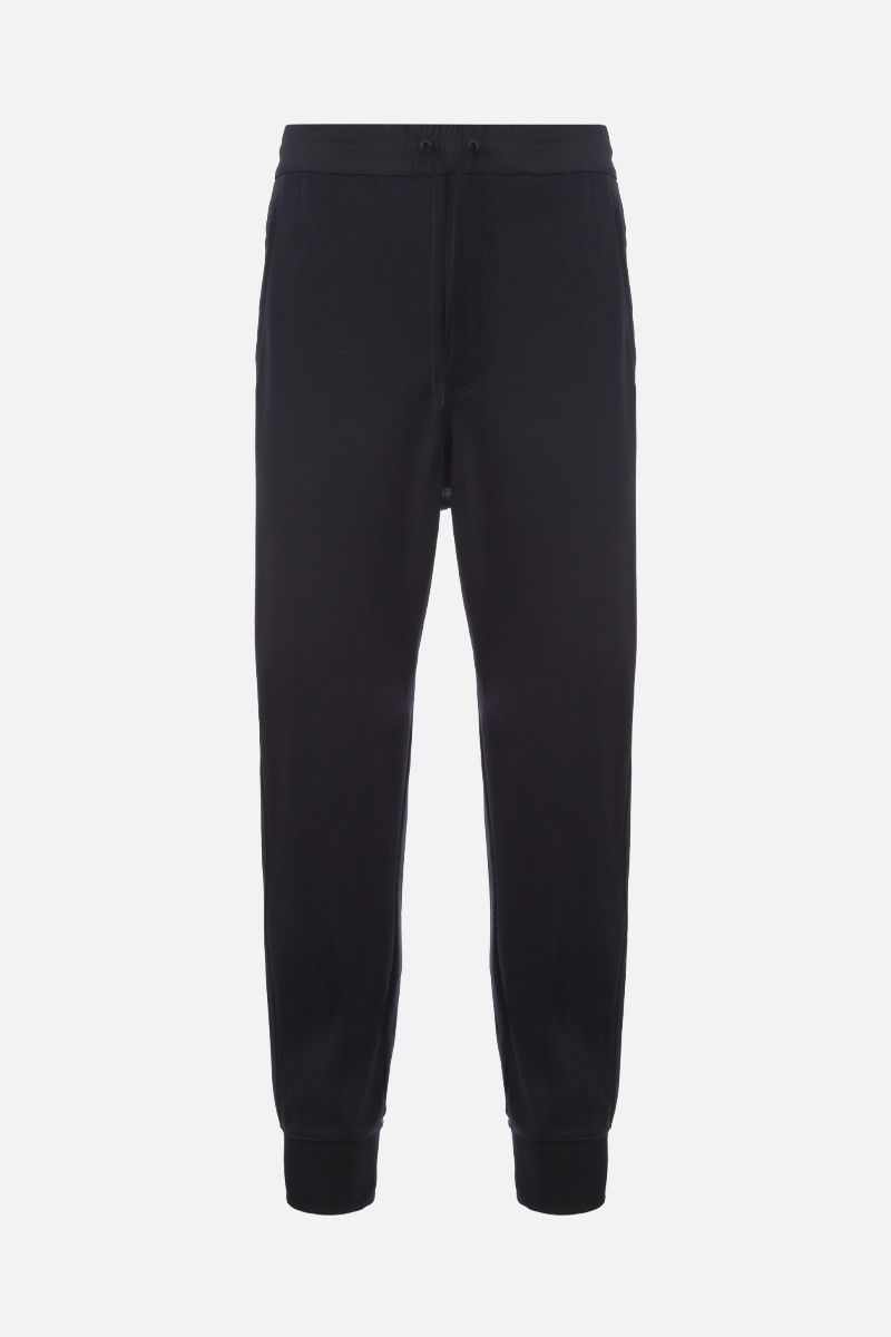 Y-3: Y-3 print technical jersey joggers Color Black_1