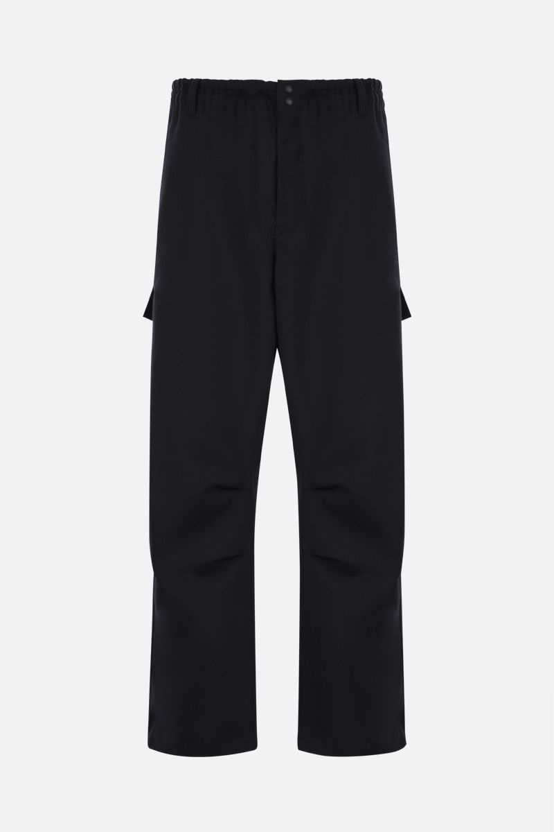Y-3: Y-3 CL gabardine cargo pants Color Black_1