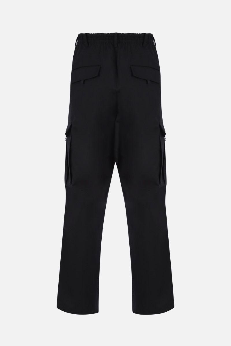 Y-3: Y-3 CL gabardine cargo pants Color Black_2