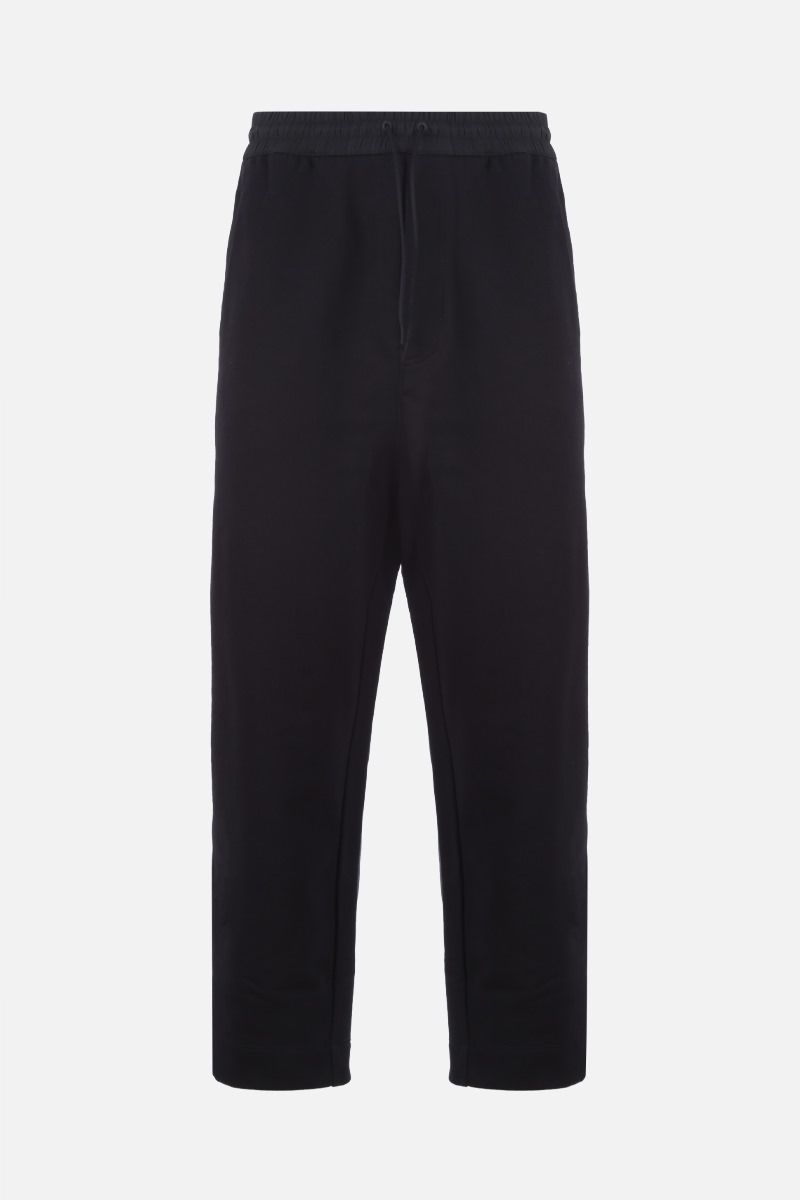 Y-3: Y-3 print cotton joggers Color Black_1