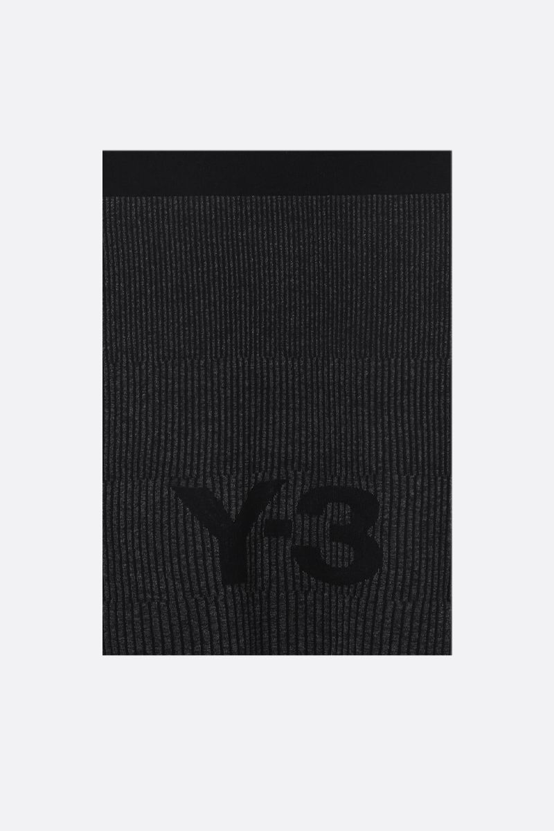 Y-3: Y-3 CH1 knit scarf Color Black_1