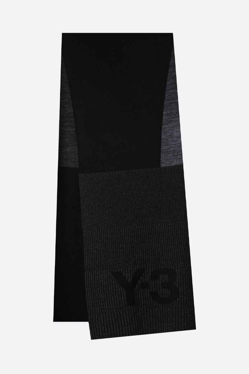 Y-3: Y-3 CH1 knit scarf Color Black_2