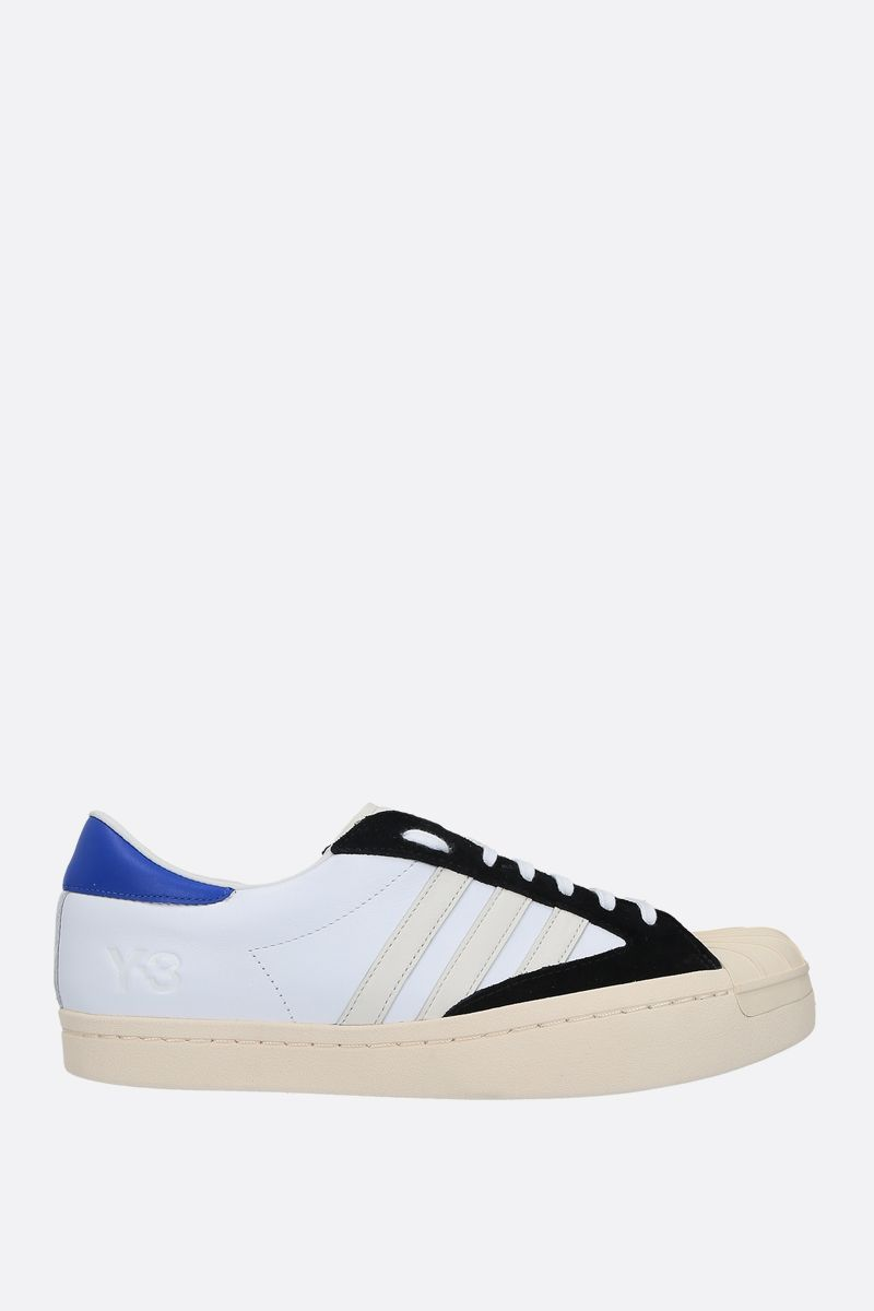 Y-3: Y-3 Yohji Star smooth leather and rubber sneakers Color White_1