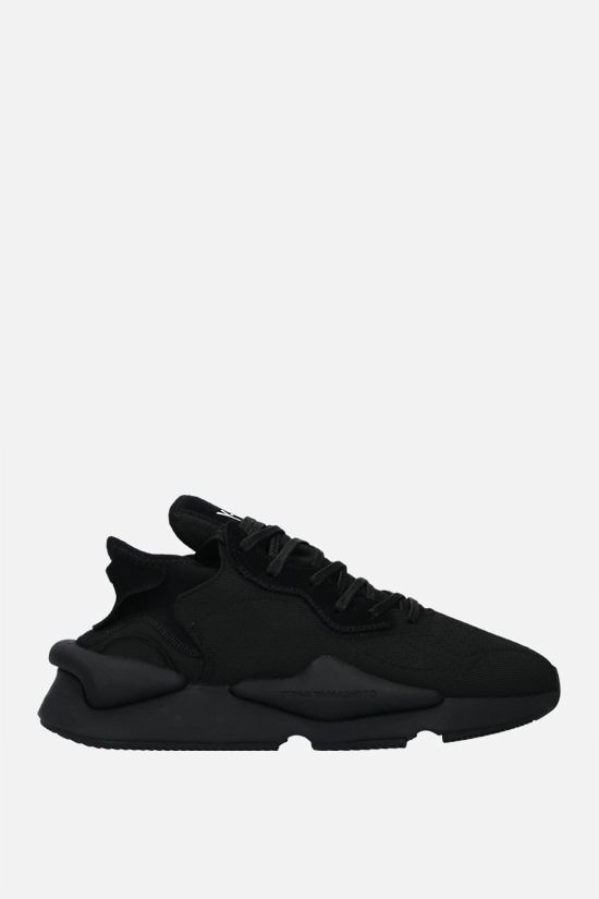Y-3: Y-3 Kaiwa technical fabric and suede sneakers Color Black_1