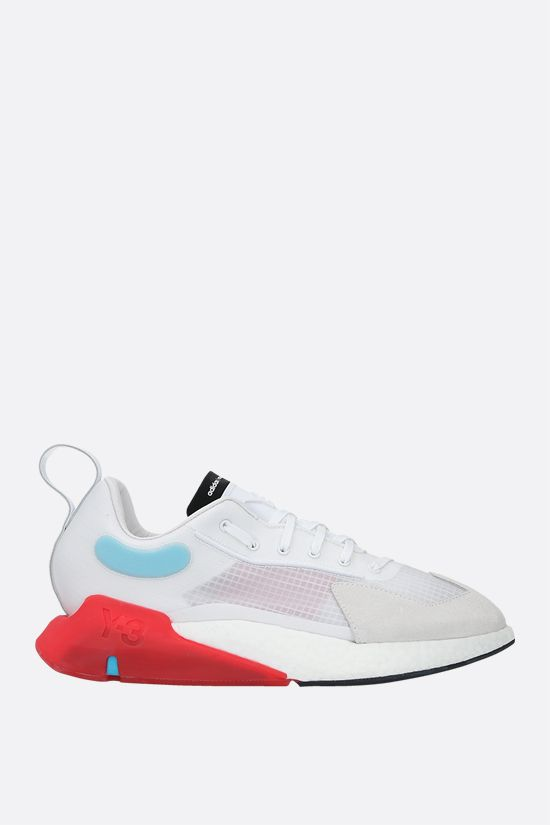 Y-3: Y-3 Orisan technical fabric and suede sneakers Color White_1