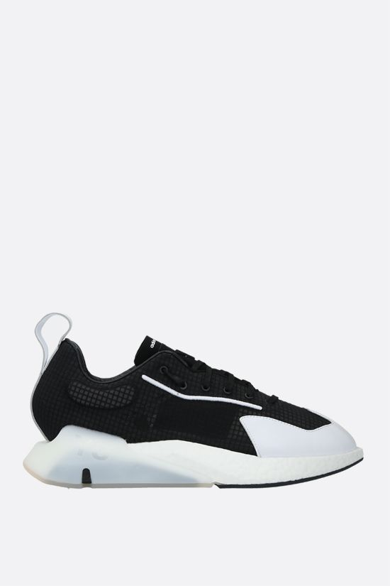 Y-3: Y-3 Orisan technical fabric and leather sneakers Color Black_1