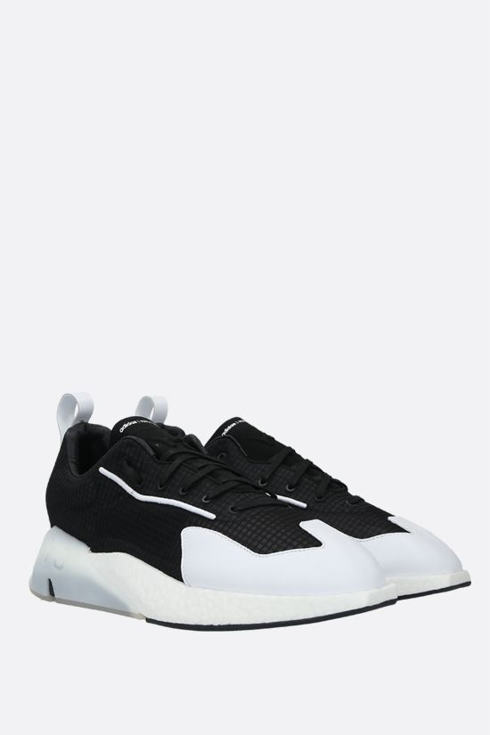 Y-3: Y-3 Orisan technical fabric and leather sneakers Color Black_2
