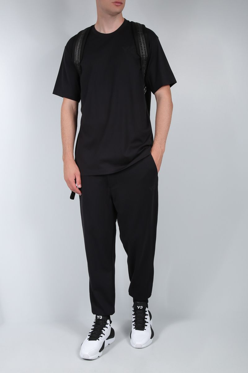 Y-3: Y-3 print cotton t-shirt Color Black_2