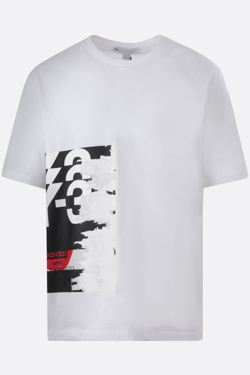 Y-3: GFX cotton t-shirt Color White_1