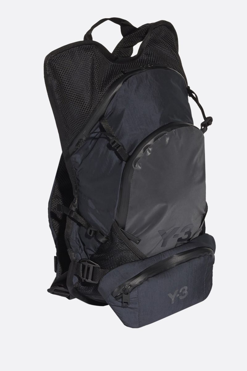 Y-3: Y-3 CH1 Reflective nylon backpack Color Black_2