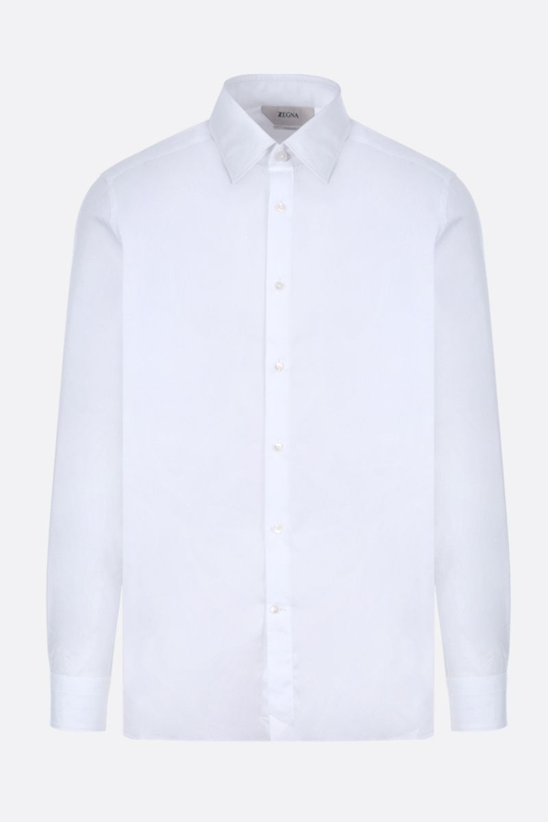 Z ZEGNA: cotton slim-fit shirt Color White_1