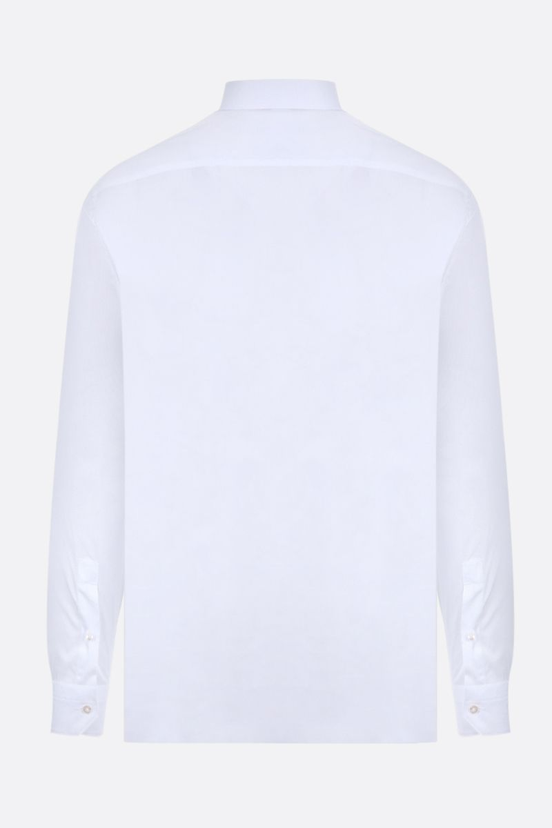 Z ZEGNA: cotton slim-fit shirt Color White_2
