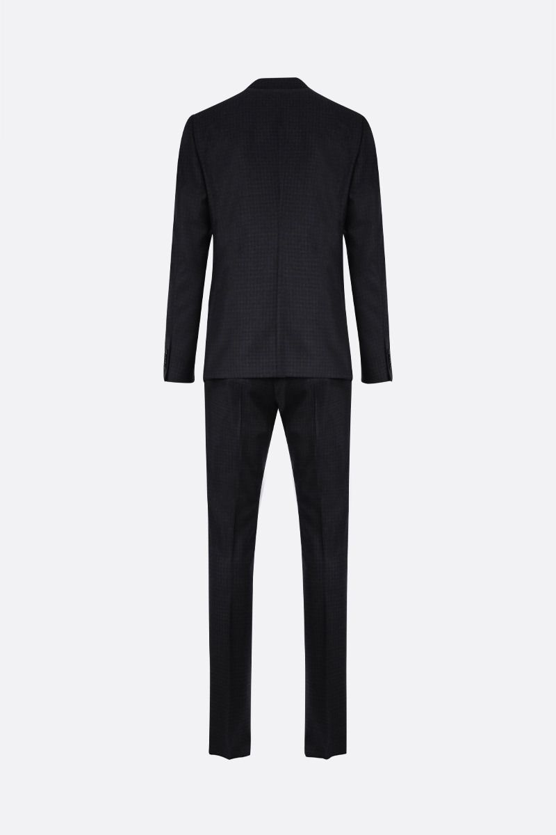 Z ZEGNA: check wool two-piece suit Color Blue_2