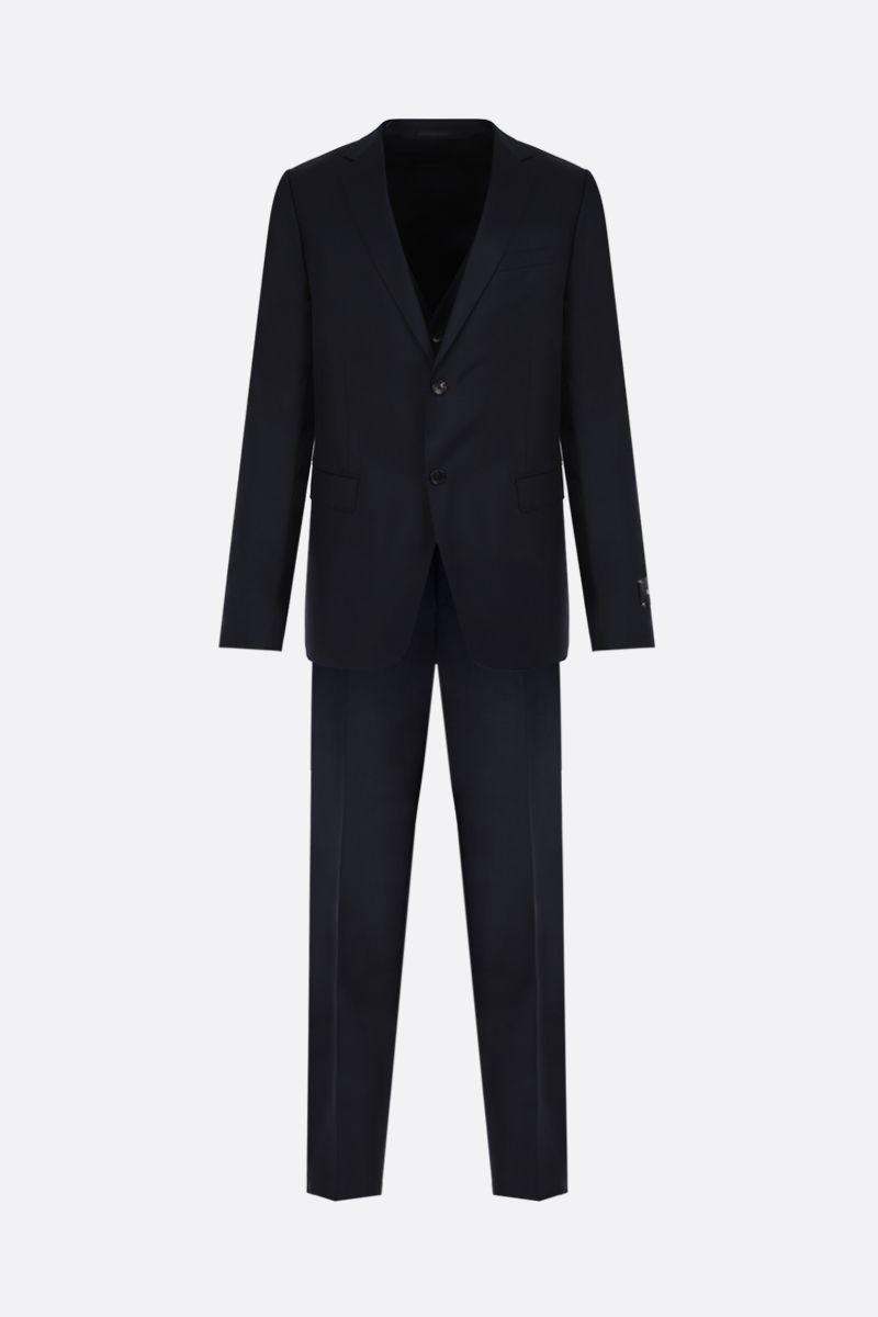 Z ZEGNA: wool mohair blend three-pieces suit Color Blue_1