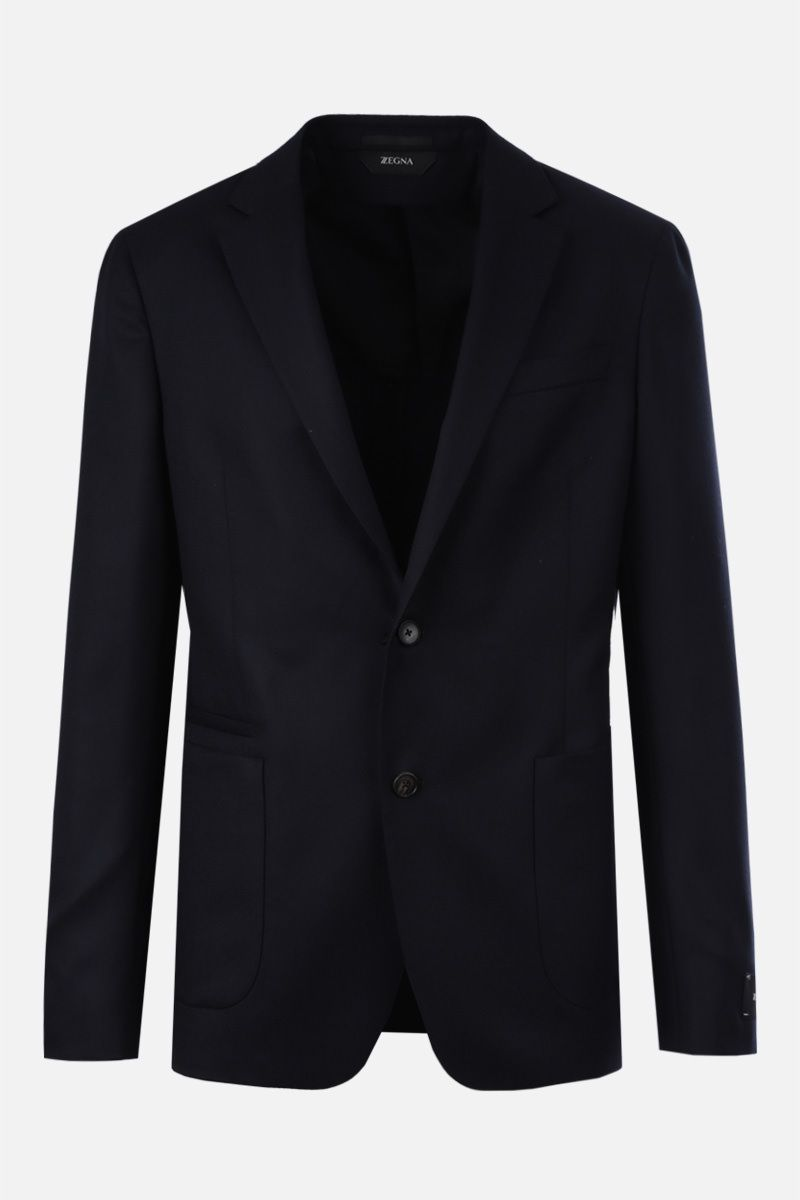 Z ZEGNA: wool single-breasted jacket Color Blue_1