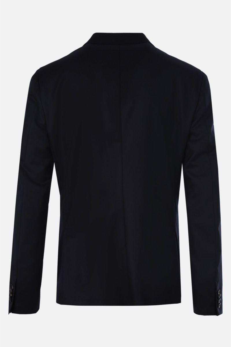 Z ZEGNA: wool single-breasted jacket Color Blue_2