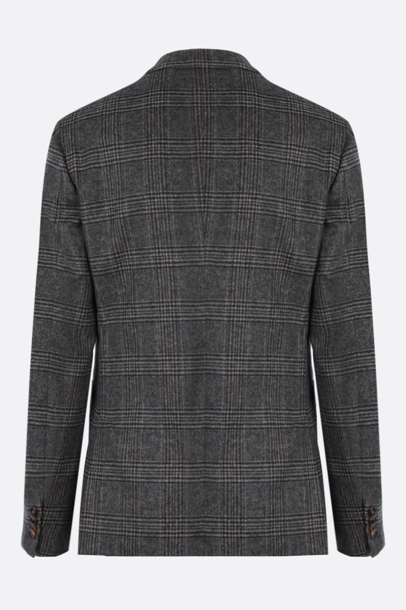 Z ZEGNA: prince of Wales wool blend single-breasted jacket_2