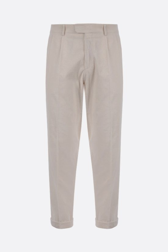 Z ZEGNA: double-pleated corduroy pants Color White_1