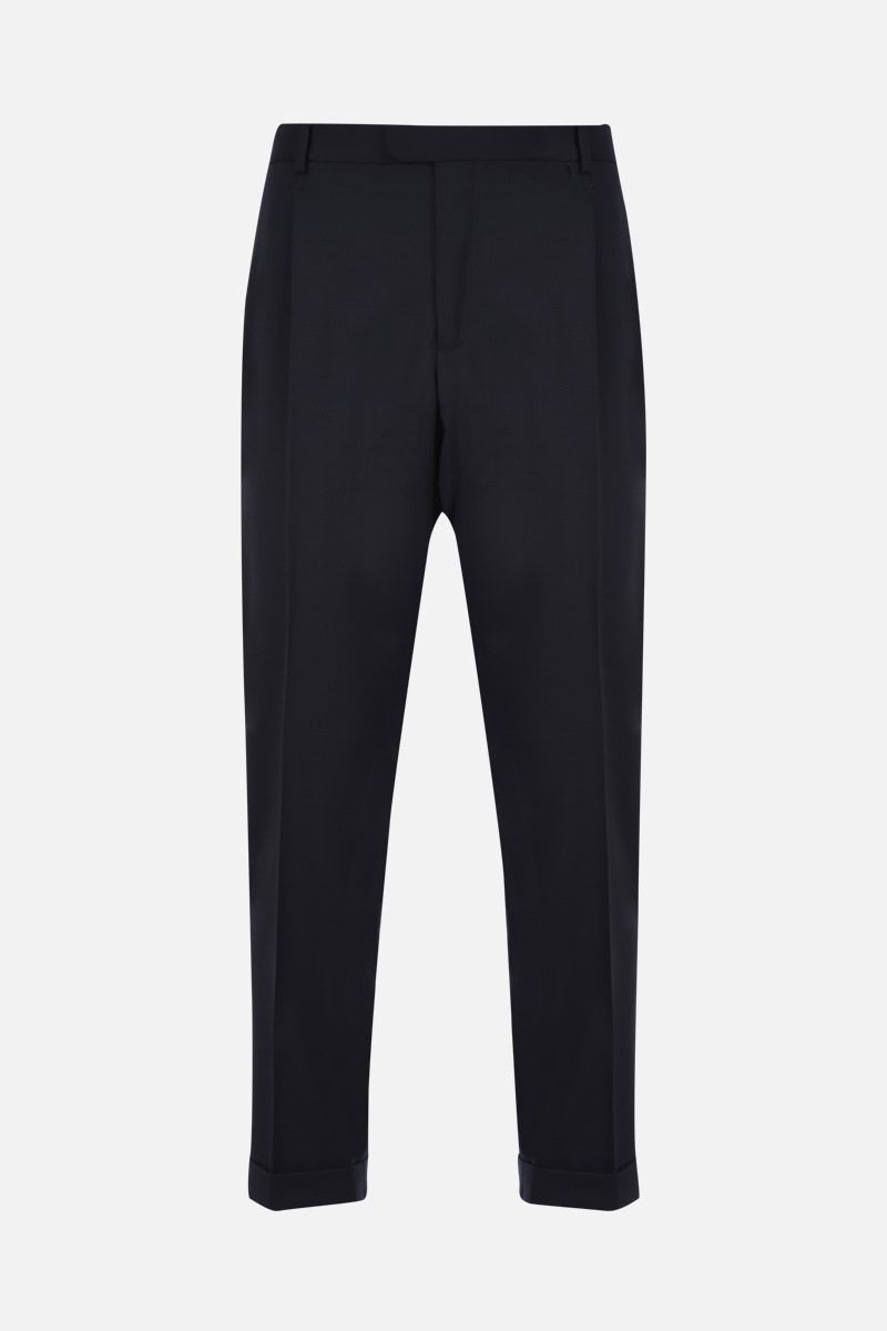 Z ZEGNA: wool blend darted pants Color Blue_1