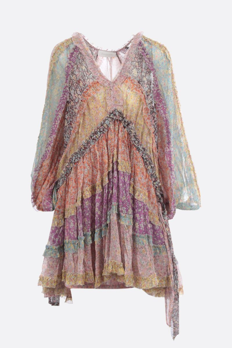 ZIMMERMANN: Carnaby floral silk minidress Color Multicolor_1