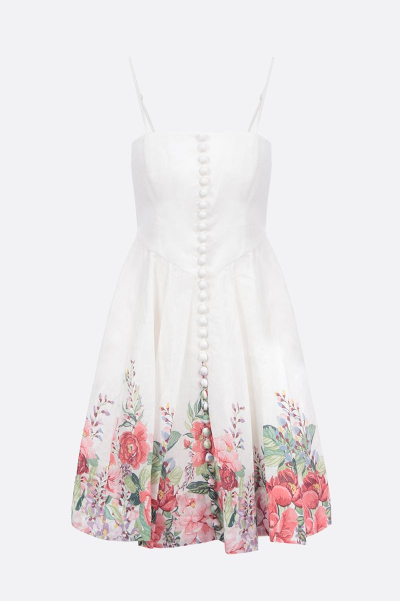 ZIMMERMANN: Bellitude linen bustier dress Color Multicolor_1