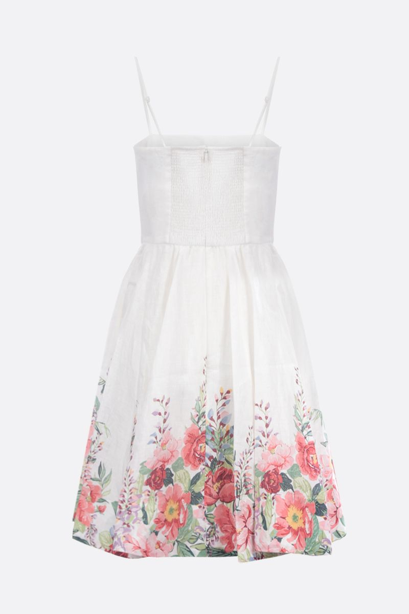 ZIMMERMANN: Bellitude linen bustier dress Color Multicolor_2