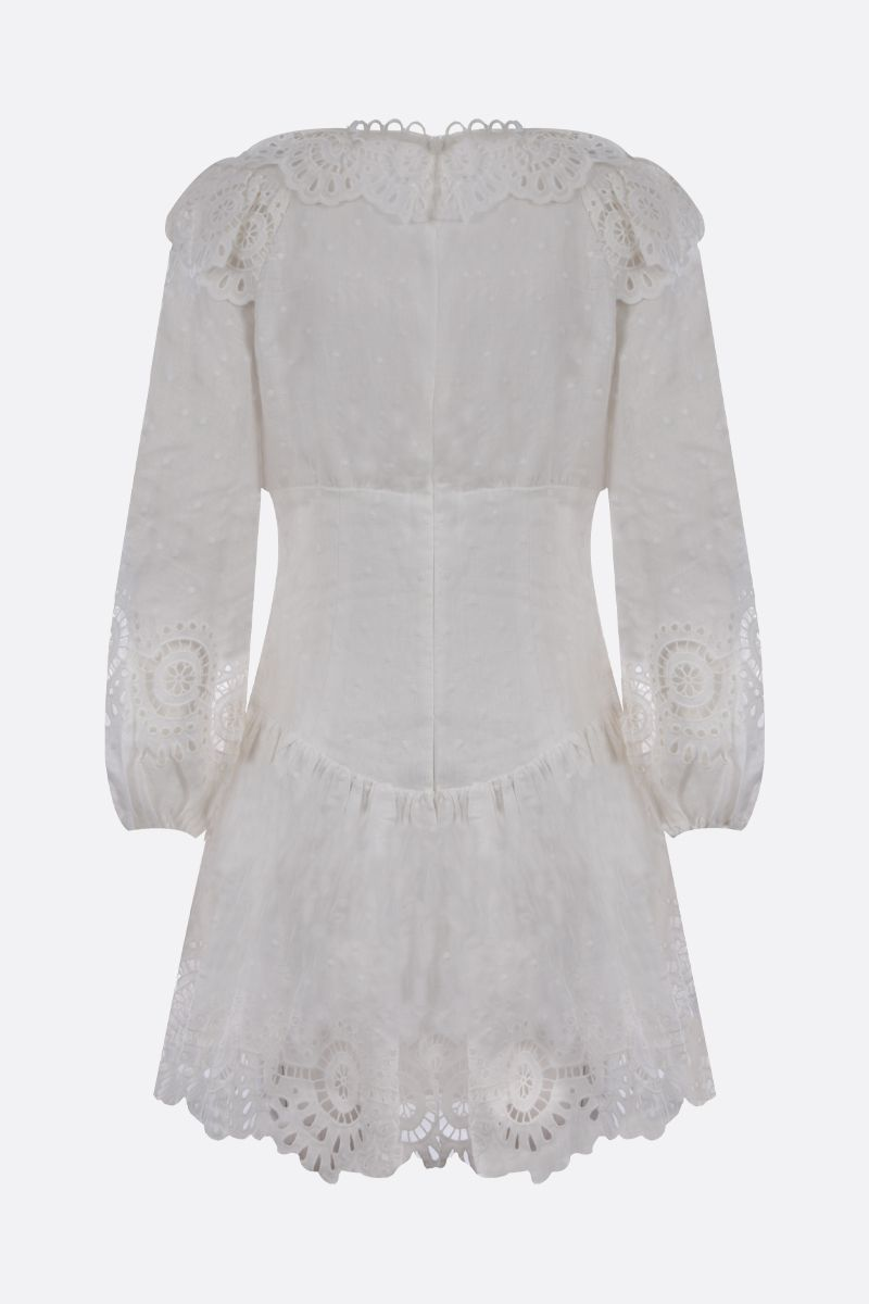 ZIMMERMANN: Bellitude linen short dress Color White_2