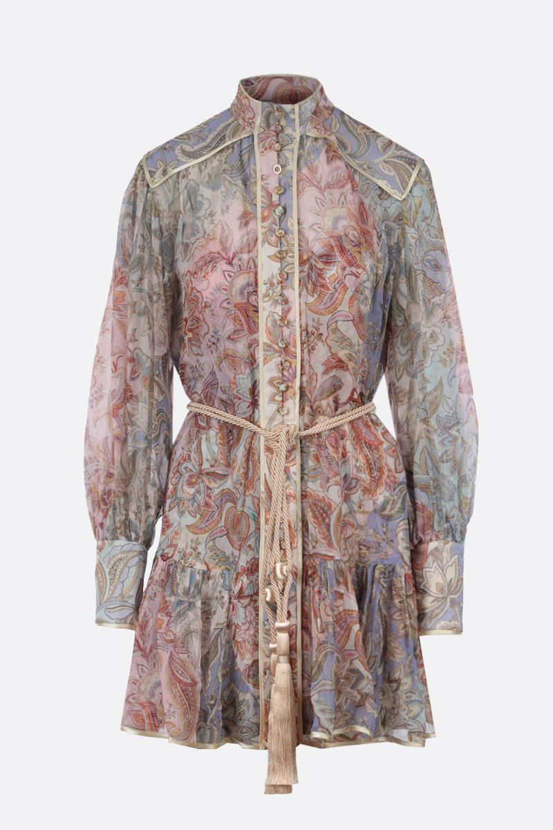ZIMMERMANN: Lucky Bound silk minidress Color Multicolor_1