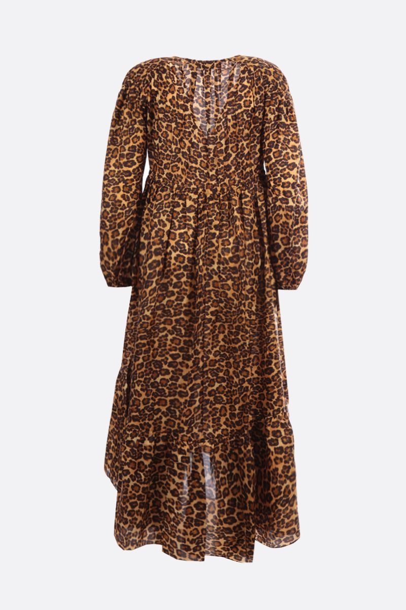 ZIMMERMANN: Amelie satin midi dress Color Animalier_2