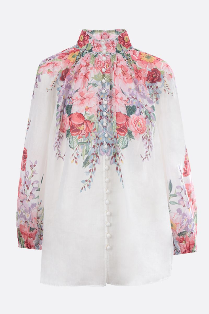 ZIMMERMANN: Bellitude floral ramie blouse Color Multicolor_1