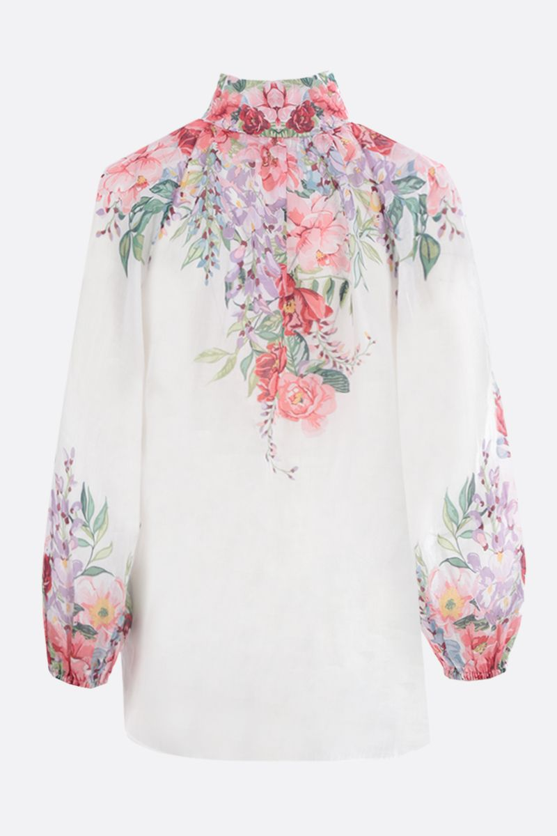 ZIMMERMANN: Bellitude floral ramie blouse Color Multicolor_2