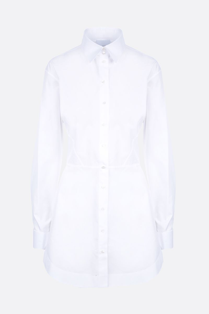 ALAIA: poplin structured shirt Color White_1