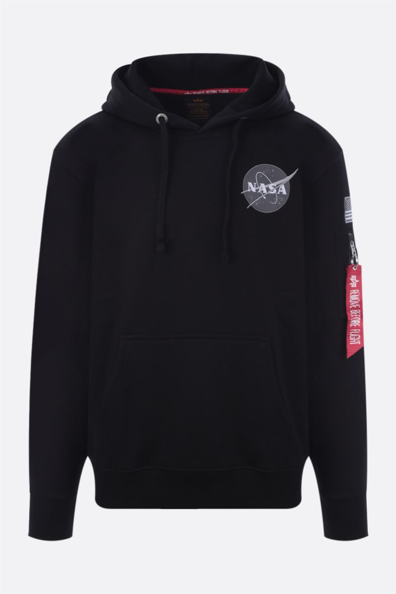 ALPHA INDUSTRIES: Space Shuttle jersey hoodie Color Black_1