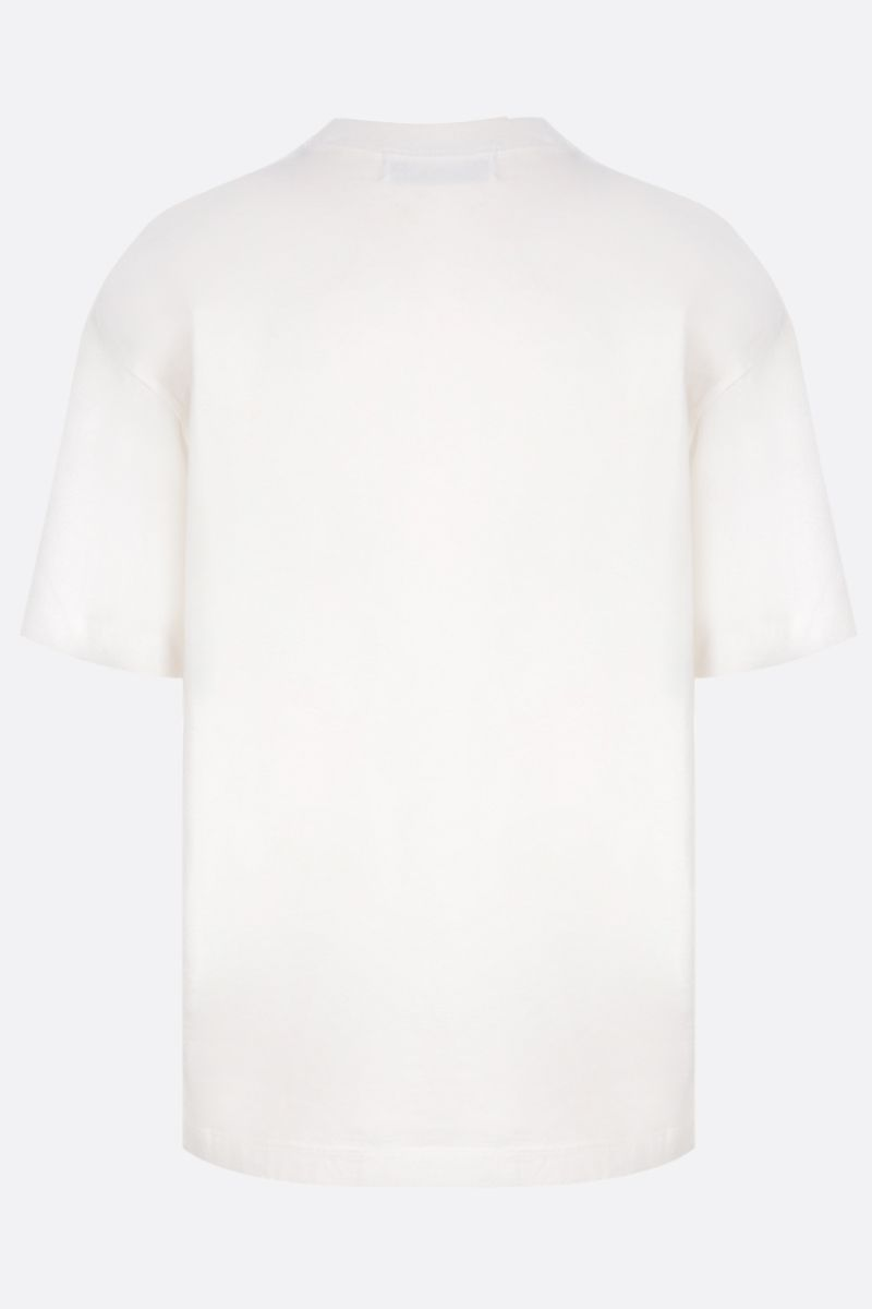 AMBUSH: 2way cotton t-shirt with logo embroidery Color White_2