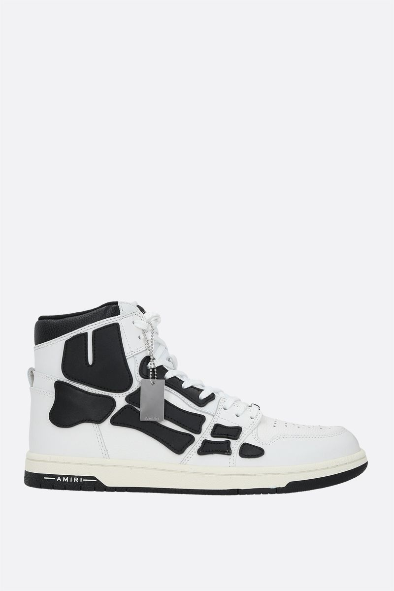 AMIRI: Skel smooth and grainy leather high-top sneakers Color Multicolor_1