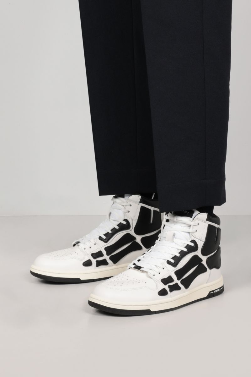 AMIRI: Skel smooth and grainy leather high-top sneakers Color Multicolor_2