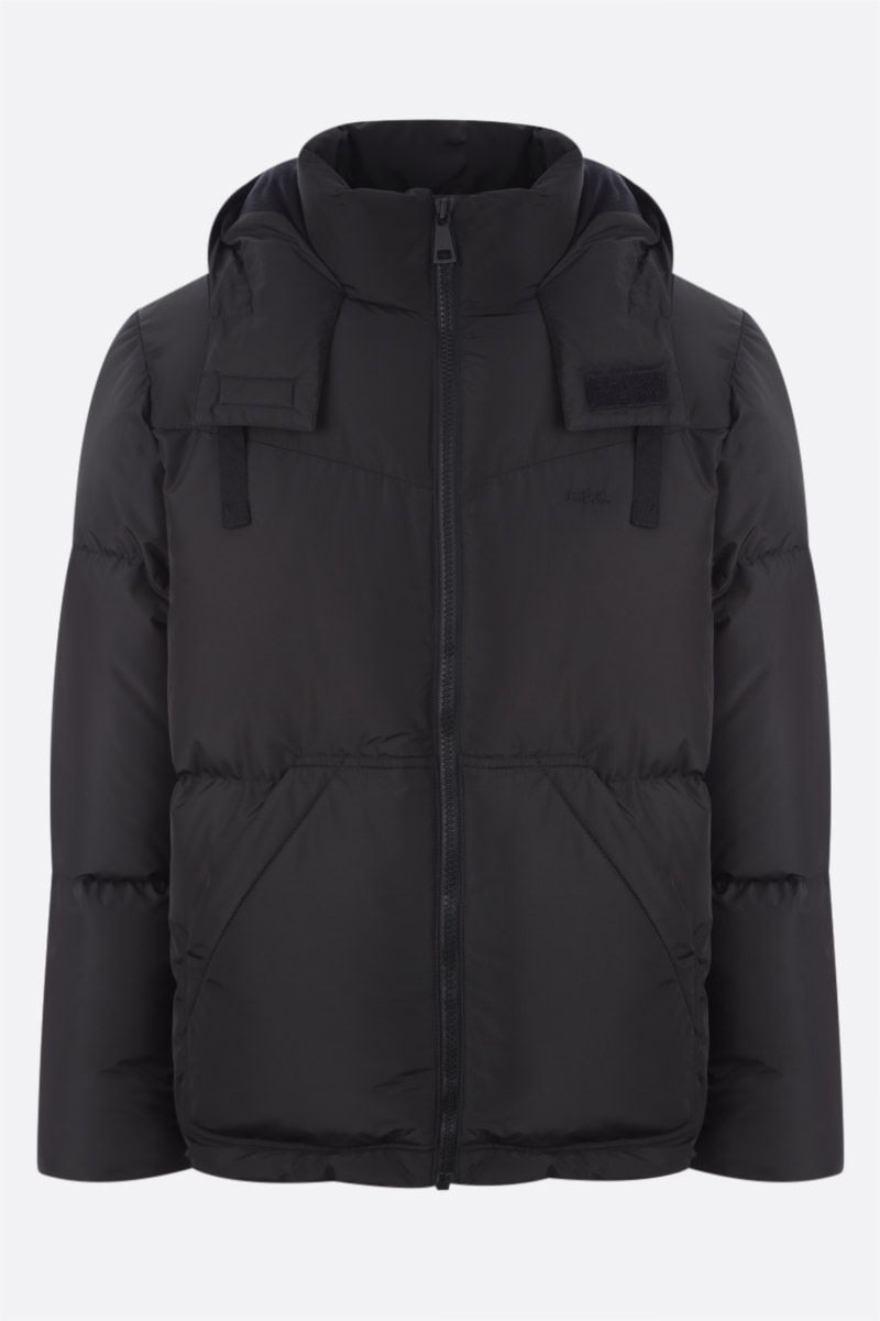 A.P.C.: Ugo down jacket in technical ripstop Color Black_1