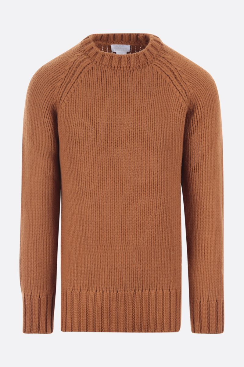 A.P.C.: Ethan oversize wool pullover Color Brown_1