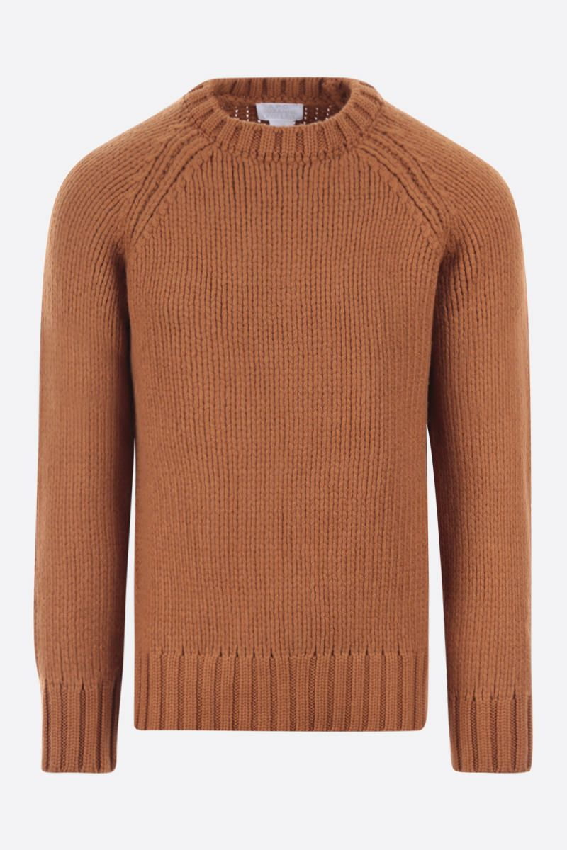 A.P.C.: pullover oversize Ethan in lana Colore Brown_1
