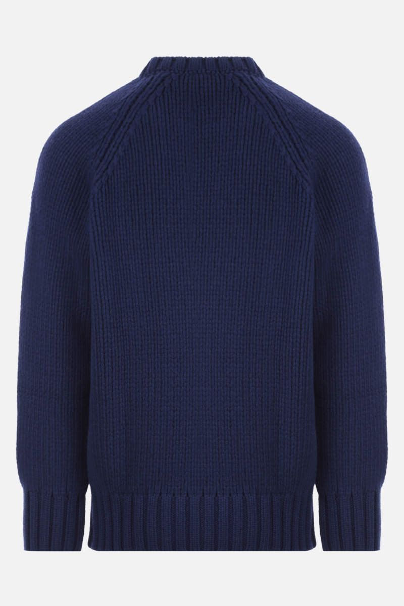 A.P.C.: pullover oversize Ethan in lana Colore Blue_2