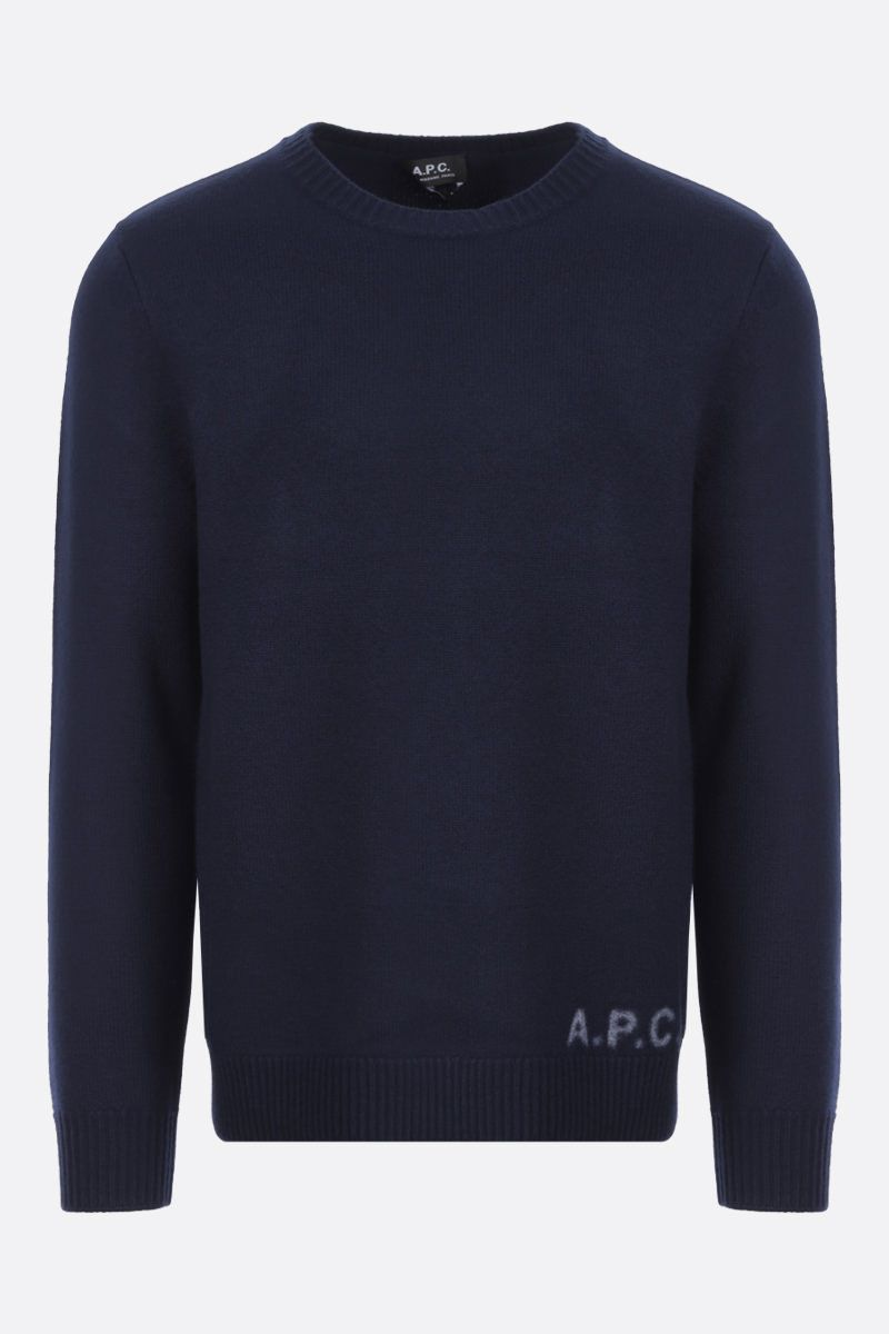A.P.C.: pullover Edward in lana Colore Blue_1