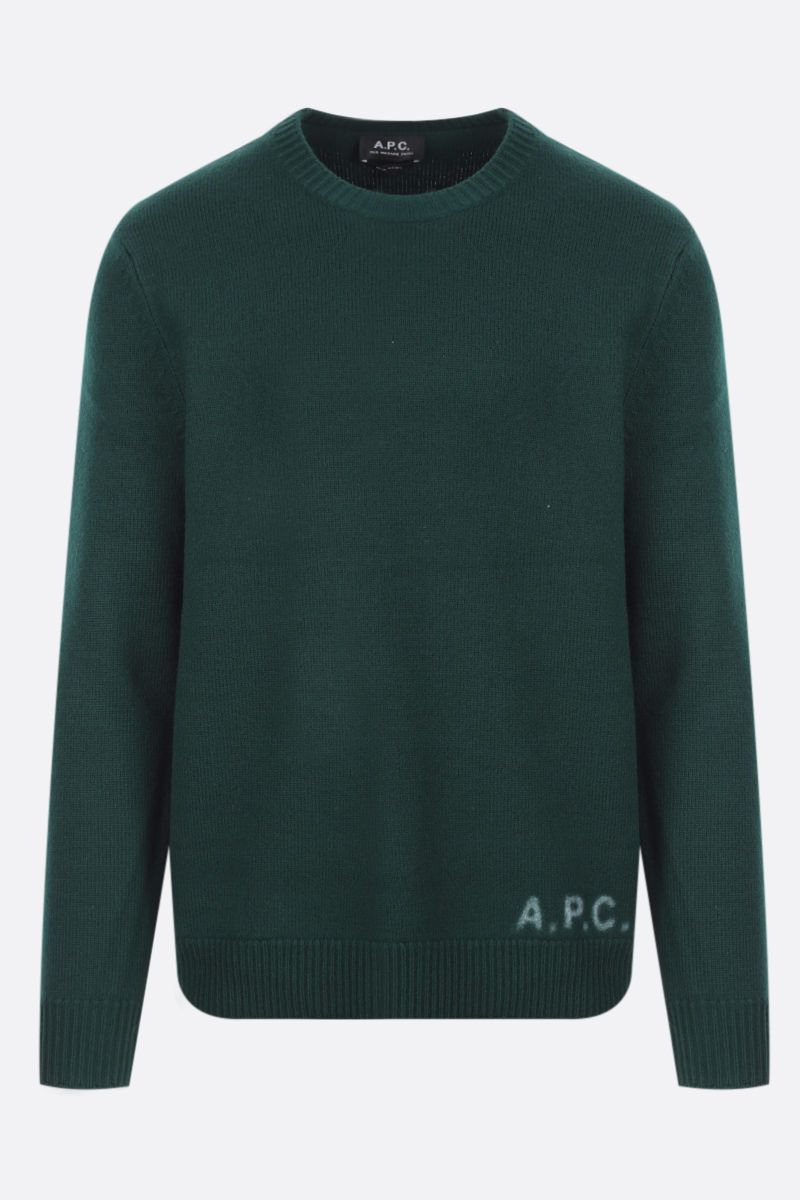 A.P.C.: pullover Edward in lana Colore Green_1