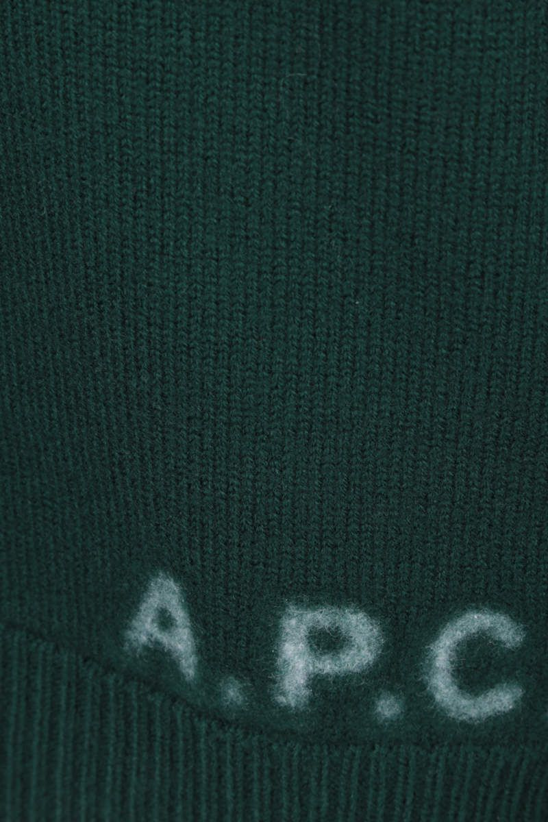 A.P.C.: pullover Edward in lana Colore Green_4