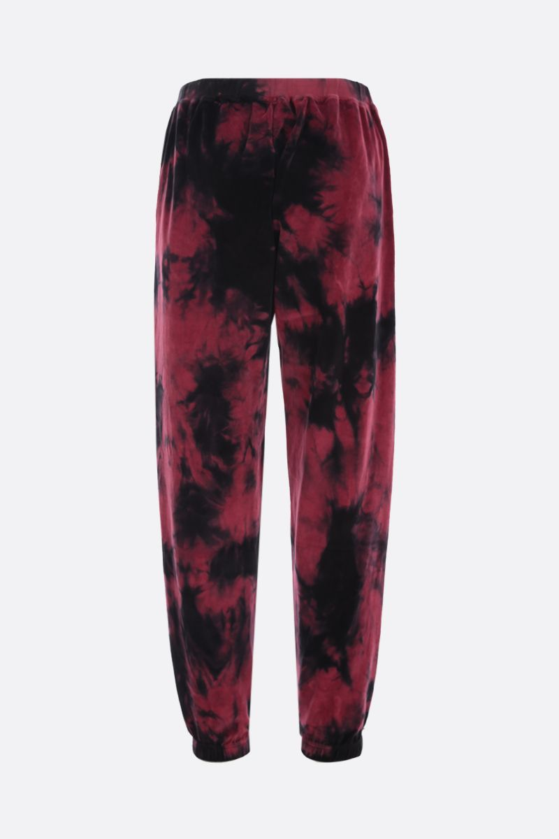 ARIES: pantalone jogging in velluto tie dye Colore Red_2